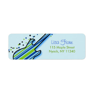 Little Rock Star Baby Shower Address Labels