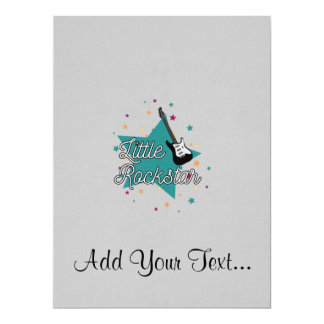 little rockstar 17 cm x 22 cm invitation card