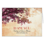 Little romantic thank you card with pink tree
