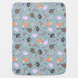 Little Round Animal Friends Baby Blanket