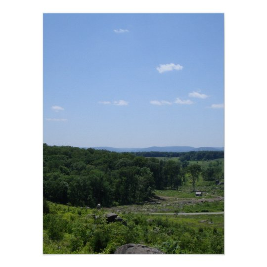 Little Round Top Panorama 1 Poster
