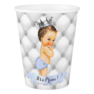 Little Royal Prince Diamonds Blue Paper Cup