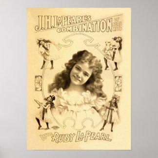 Little Ruby La Pearl Vintage Poster
