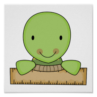 little ruler school turtle poster