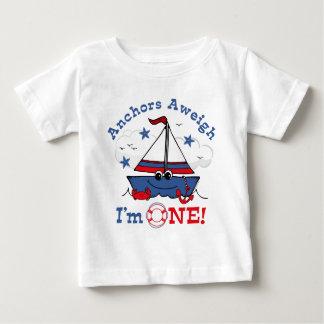 Little Sailboat 1st Birthday Baby T-Shirt