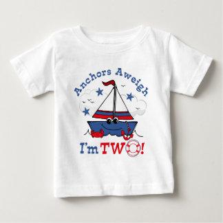 Little Sailboat 2nd Birthday Baby T-Shirt