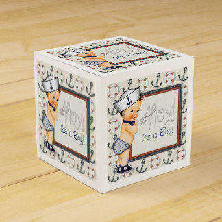 Little Sailor Nautical Baby Boy Shower Party Favour Box