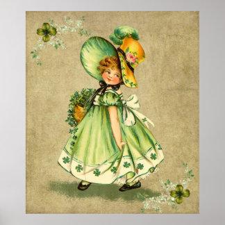 Little Saint Patty s Day Girl- Print
