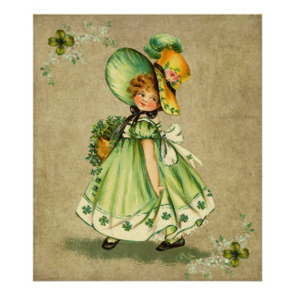 Little Saint Patty's Day Girl- Print