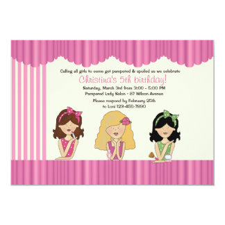 Little Salon Beauties Spa Invitation