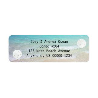 Little Sand Dollars Ocean Background Return Address Label
