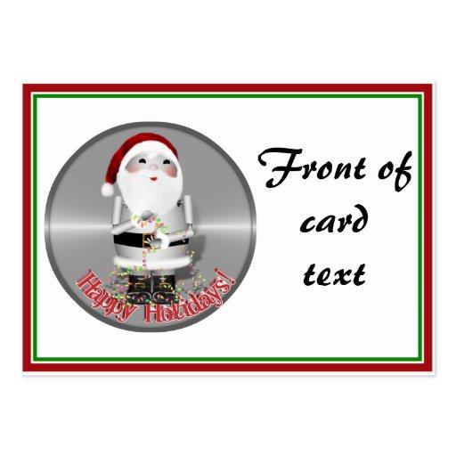 Little Santa Claus Robot - Robo-x9 Business Card