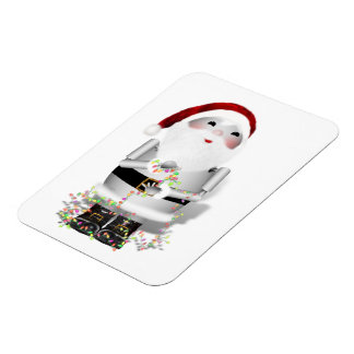 Little Santa Claus Robot - Robo-x9 Rectangular Magnets