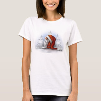 Little Santa in the snow T-Shirt