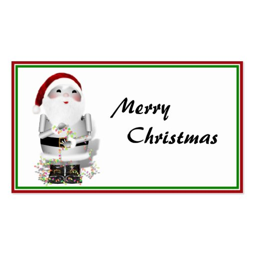 Little Santa Robo-x9 Business Card Template