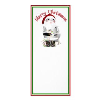 Little Santa Robo-x9 Personalized Rack Card