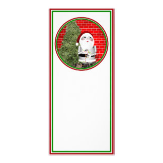 Little Santa Robo-x9 Rack Card Template