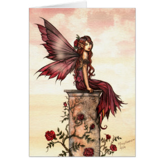 Little Scarlet Rose Fairy Card