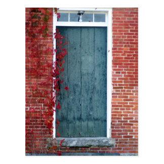 Little Schoolhouse Door Postcard
