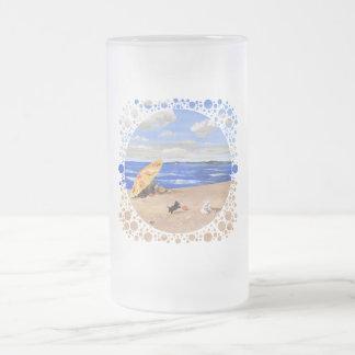Little Scottie Plays at the Beach Coffee Mugs