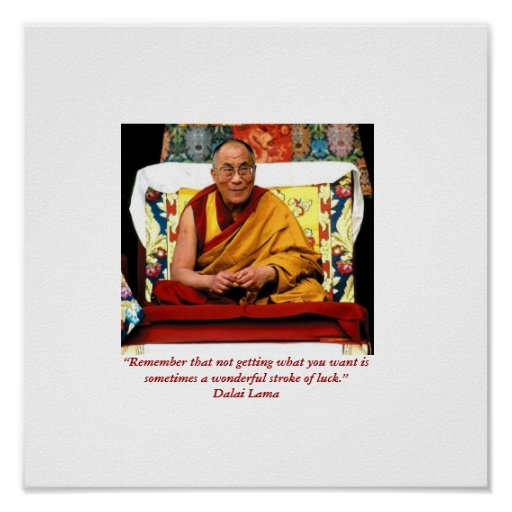 Little Seeds Art HH Dali Lama Quote Poster