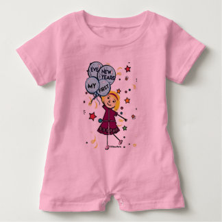 Little Seraphina- My First New Years Eve Baby Bodysuit