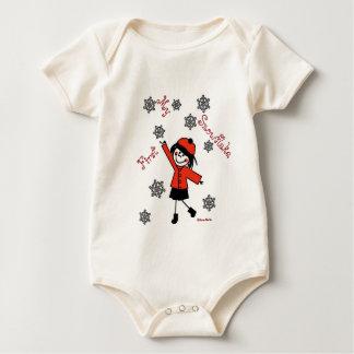 Little Seraphina Snowflake Baby Bodysuit