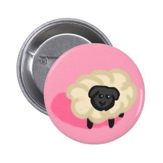 Little sheep pinback button