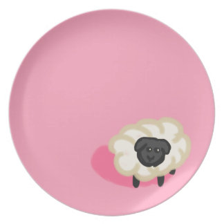 Little sheep dinner plates