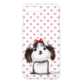 Little Shih Tzu Puppy on Hearts Pattern iPhone 7 Plus Case