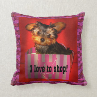 Little Shopper Yorkie Cushion