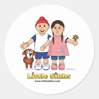 Little Sikhs Round Sticker