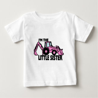 Little Sister Backhoe Baby T-Shirt