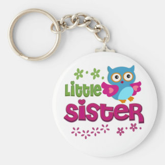 Little Sister Basic Round Button Key Ring