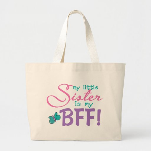 Little Sister BFF Butterfly Canvas Bag