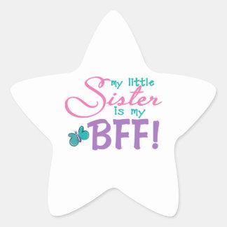 Little Sister BFF Butterfly Star Sticker