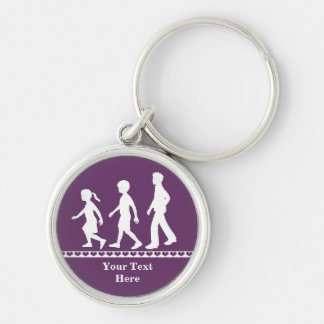 Little Sister, Big Brothers: Silhouette Siblings Key Chains
