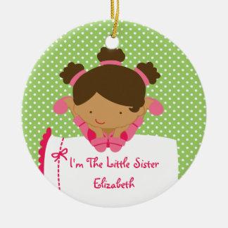 Little Sister Christmas Ornament Sweet  Girl