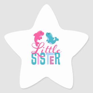 Little Sister Dolphins Star Sticker