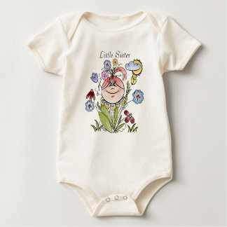 Little Sister Flower Garden Fairy Baby Bodysuit