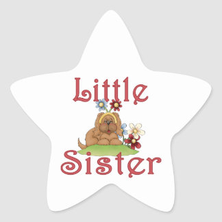 Little Sister Fluffy Pup 1 Stickers