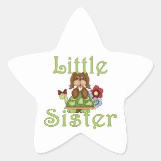 Little Sister Fluffy Pup 2 Star Sticker