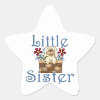 Little Sister Fluffy Pup 3 Star Sticker