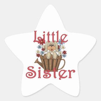 Little Sister Fluffy Pup 4 Star Sticker