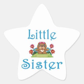 Little Sister Fluffy Pup 5 Star Sticker