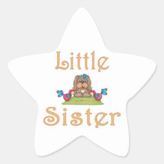 Little Sister Fluffy Pup 8 Sticker
