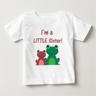 Little Sister Frog Sibling T (Green/Pink) Tshirt