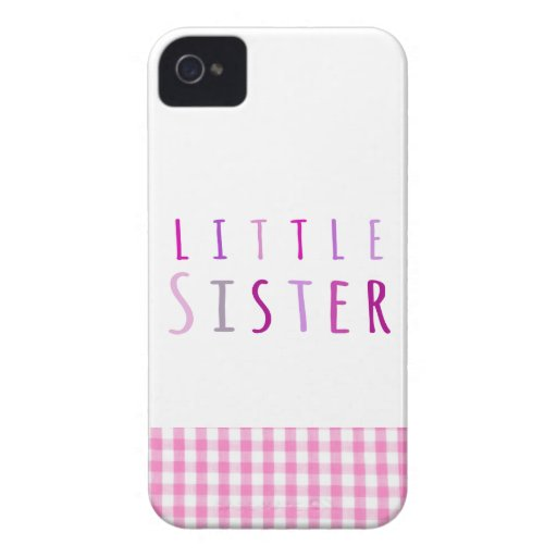Little sister in pink Case-Mate iPhone 4 cases
