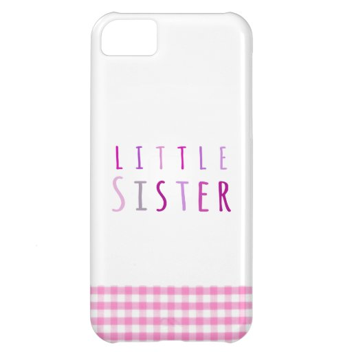 Little sister in pink cover for iPhone 5C