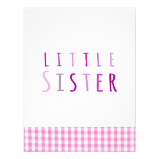 Little sister in pink custom announcements